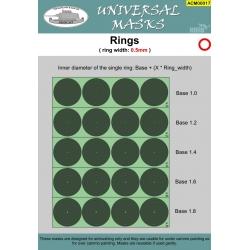 Rings width 0,5mm