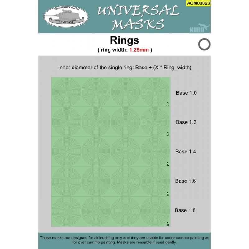 Rings width 1,25mm