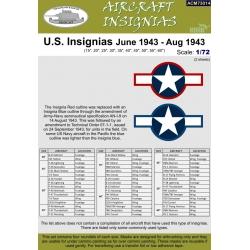 U.S. Insignias June 1943 - Aug 1943