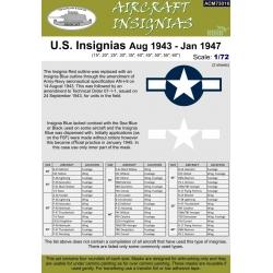 U.S. Insignias Aug 1943 - Jan 1947