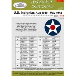 U.S. INSIGNIAS Aug 1919 - May 1942