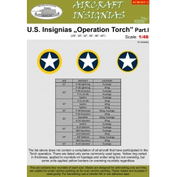 "U.S. INSIGNIAS Operation ""Torch"" Part I"