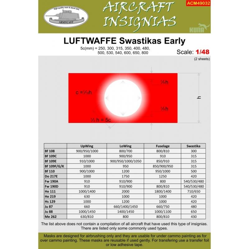 LUFTWAFFE Swastikas Early