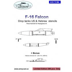 F-16 stencils for fuel tank
