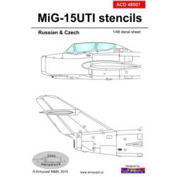 MiG-15 UTI Stencils