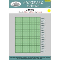 Circles mask 6,2mm-8,1mm